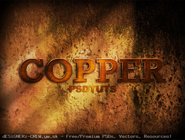 Copper Photoshop Text Effect by SET07