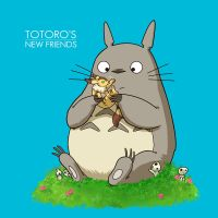 Totoro's New Friends (variant) by AndrewKwan