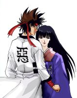 Sanosuke and Megumi by lonelymiracle