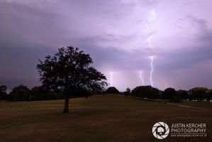 Lightning Over Boltons Bench, The New Forest by Neutron2K