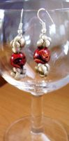 Button-knot Earings by themagpiesnest