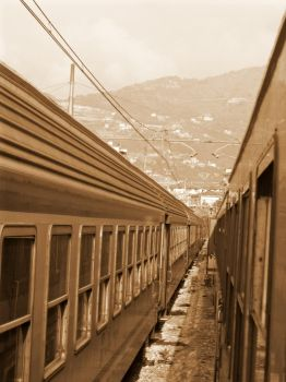 Train on the French Riviera by black-martin