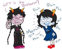 Homestuck: Aranea and Meenah by Stungun44
