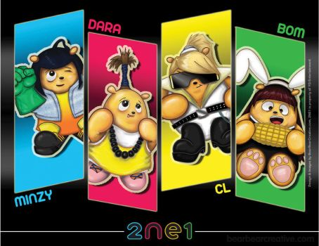 2ne1 Bears by BearBearCreative