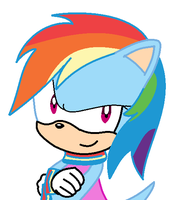 Amy Rose To Rainbow Dash by coolmlpfangirl450