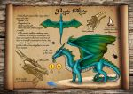 Dragon Pelagico - Pelagic Dragon Reference Sheet by Kradath