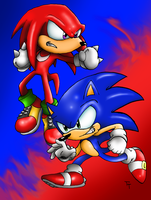 Sonic And Knuckles by SonicKnight007