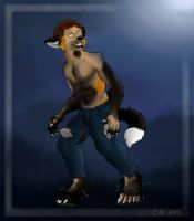 Commission: Werefox by curious-red-fox