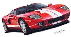 ford gt by mobleyart