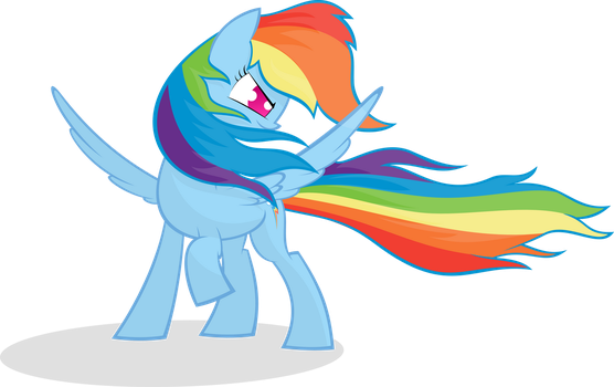 Rainbow Dash in the Wind by KalleFlaxx