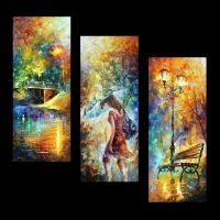 Aura of autumn set of 3  by Leonid Afremov by Leonidafremov