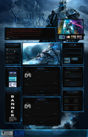 Lich King Web Template v2 by Death-GFx