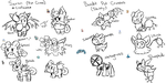 Crossbreed Concepts for Bandit and Seren by Apricotthevixen