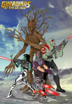 Guardians of the Galaxy by TommyTejeda