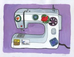 Sewing Machine by Annikak