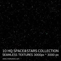 10 HQ SPACE STARS SEAMLESS TEXTURE COLLECTION by Grasycho