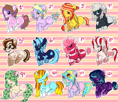 Pony adoptables batch #3. CLOSED by Points-adoptables-4U