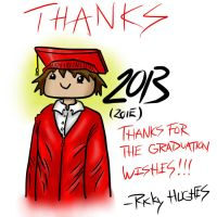 Graduation Thank You Card by CarrierofHeartbreak