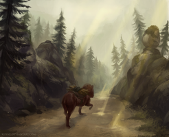 Evening Road by Kipine