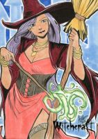 Witchcraft Sketch Card - Irma Ahmed 2 by Pernastudios