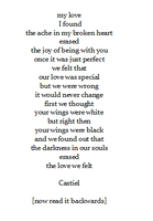 Destiel poetry by Castielogically