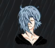 Zexion in the rain by DemyxandZexion