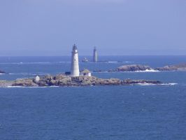 View of Little Brewester Island and Boston Light.. by TriciaStucenski