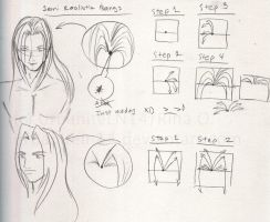 how to draw Sephiroth's bangs by morikun-rinari