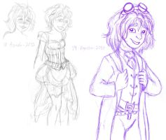 Steampunk Mode sketches by Atrixfromice