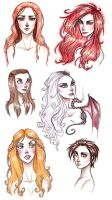 Game of Thrones ladies by TroubleTrain