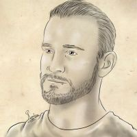 CM Punk, traditional style by Roselyne777
