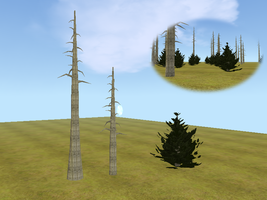 Wip Tree mesh pack by WulfTheWolf