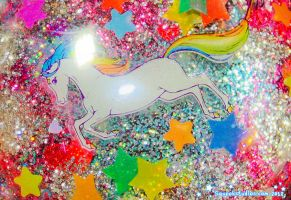 Starlite Glitter Bomb Paper Weight by squeekaboo