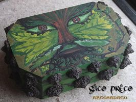 Green Man Wooden Box 2 by GatoPretoArtesanato