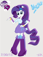 Equestria Girls Rarity by Arteses-Canvas