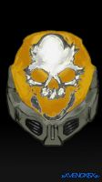 Halo reach emile helmet by xXVENOXISXx