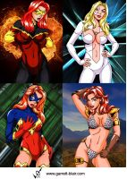 Marvel Girls 9 by gb2k by Mythical-Mommy