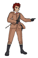 Fighter Galvez: Colored by Hero-in-Pixels