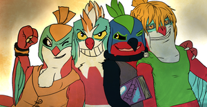 WIP Hawlucha buds by RedRoronoa
