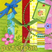Peterpan Scrap Kit by MizzKitten21