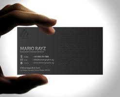 Minimalist embossed business 1 by Lemongraphic