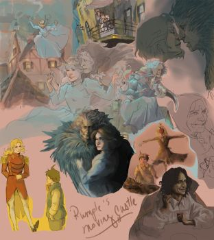 Rumple's Moving Castle Sketchdump by Patatat