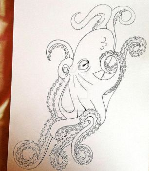 Octopus tattoo design by Crying-elf-designs