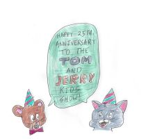 Happy 25th Anniversary Tom and Jerry Kids by dth1971