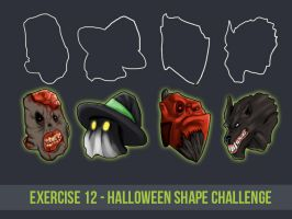 Exercise 12   Halloween Shape Challenge By Con by Sh3ikha