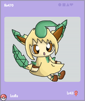 Leafeon Gijika. by The-Cactus-Runner