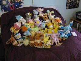 my pokemon plush collection by bijou457