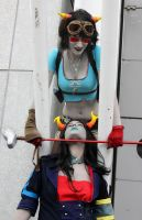 L3T'S ST4RT 4 TR14L - Terezi and Vriska by Kim-T-Mikk