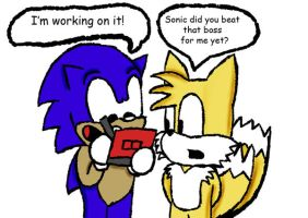 Sonic hates to lose by Flashboy5000