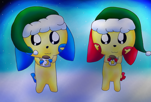 Plusle and Minun Sisters by TheCreatorOfSoften